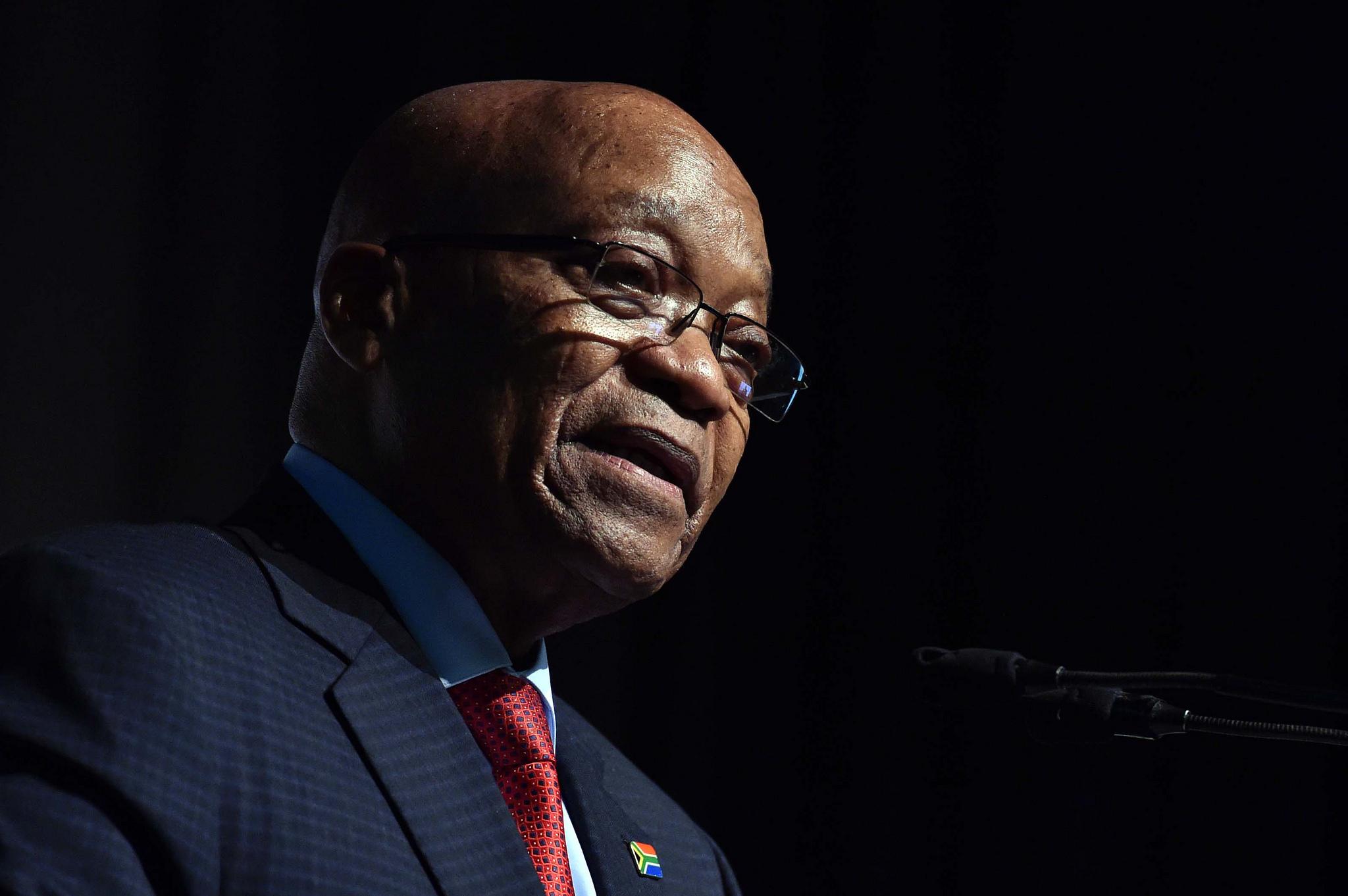 Jacob Zuma portrait stare